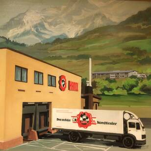 Pians company building 1970 painting Handl Tyrol